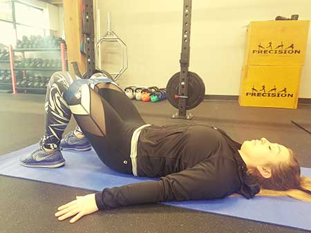 Banded Glute Bridge Position 1