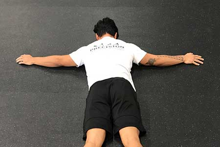 Prone Leg Lift Position 1